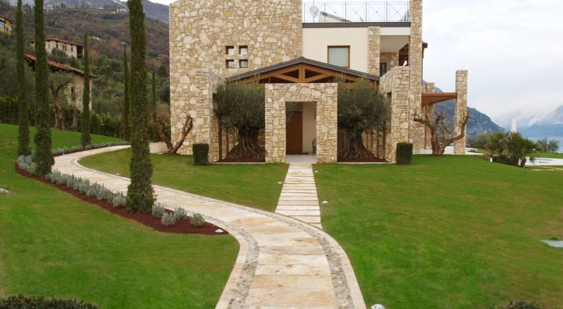 Villa in pietra di prun pavimenti per esterni in pietra naturale